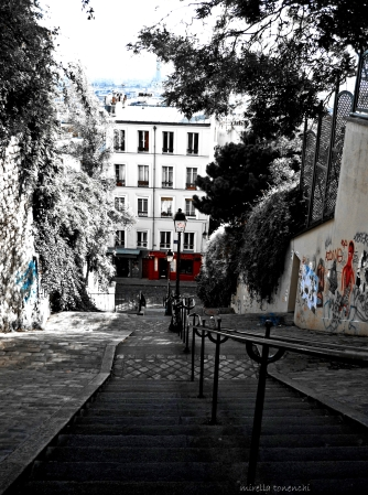 Montmartre escaliers